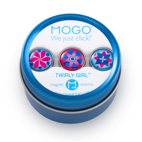 MOGO Charm Collection - Twirly Girly (Tin of 3 Charms)