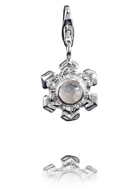 Verado Jewelled Snowflake Gemstone Charm