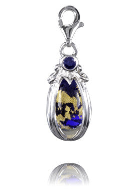 Verado Cobalt Treasure Murano Glass Charm