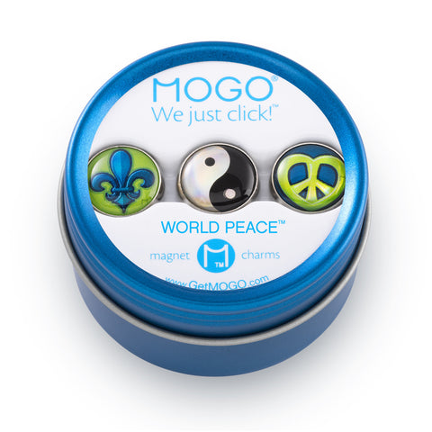 MOGO Charm Collection - World Peace (Tin of 3 Charms)