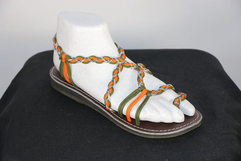 Loki Sandals - 01 - Orange / Green / White-Black