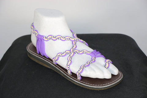Loki Sandals - 03 - Purple  /  Cream  /  Black-White