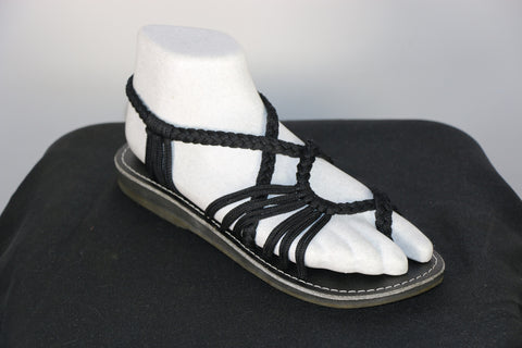 Loki Sandals - 06 - Black (Toe Overlap)
