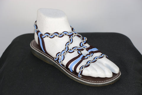 Loki Sandals - 09 - Blue / Brown / Black-White