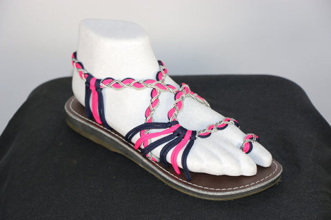 Loki Sandals - 13 - Pink / Gray / Navy Blue / White-Black