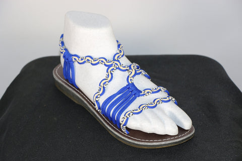 Loki Sandals - 16 - Royal Blue / Cream / White-Black