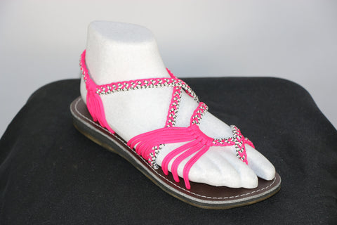Loki Sandals - 17 - Hot Pink / White-Black