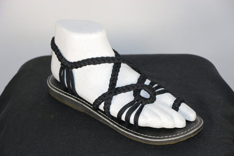 Loki Sandals - 24 - Black (Toe Loop)