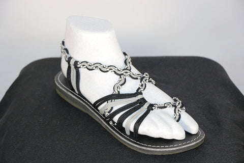 Loki Sandals - 27 - Black / Grey / White-Black