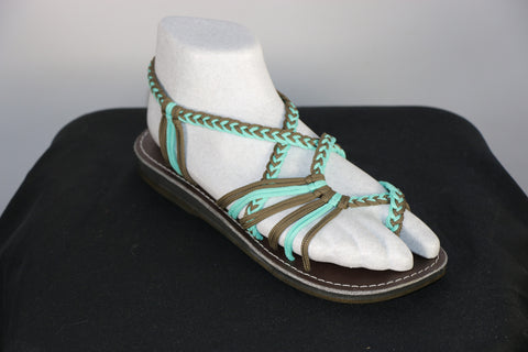Loki Sandals - 28 - Pool Blue / Olive