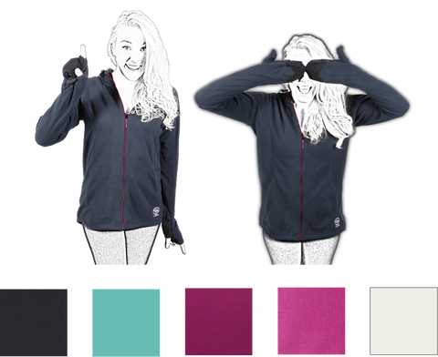 Women's Midi Micro Fleece - Full Zip!