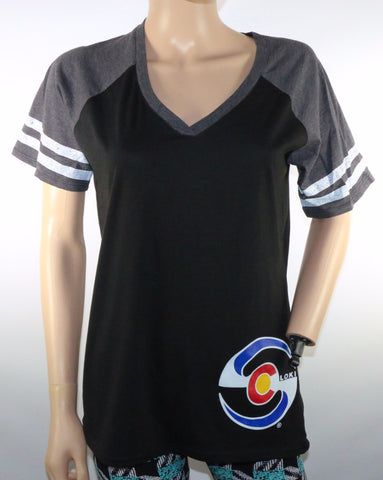 Women's Short Sleeve - Black / Gray