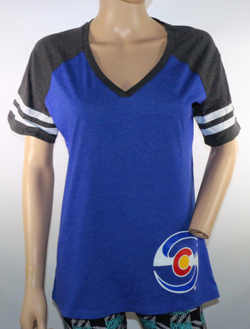 Women's Short Sleeve - Blue / Lt. Black