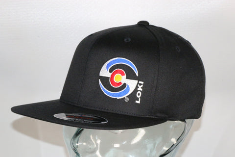 Flexfit Flatbill Hat - Black / Colorado Logo