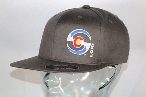Flexfit Flatbill Hat - Gray / Colorado Logo