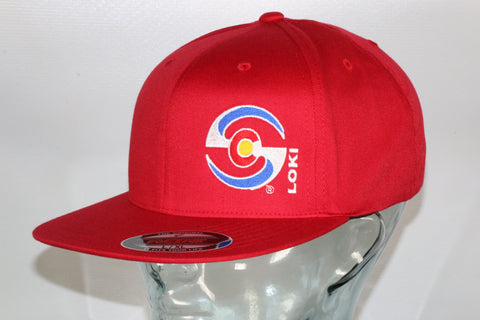 Flexfit Flatbill Hat - Red / Colorado Logo