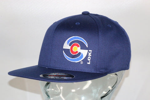 Flexfit Flatbill Hat - Blue / Colorado Logo