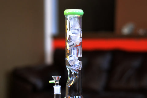 bong with geometric ice catcher