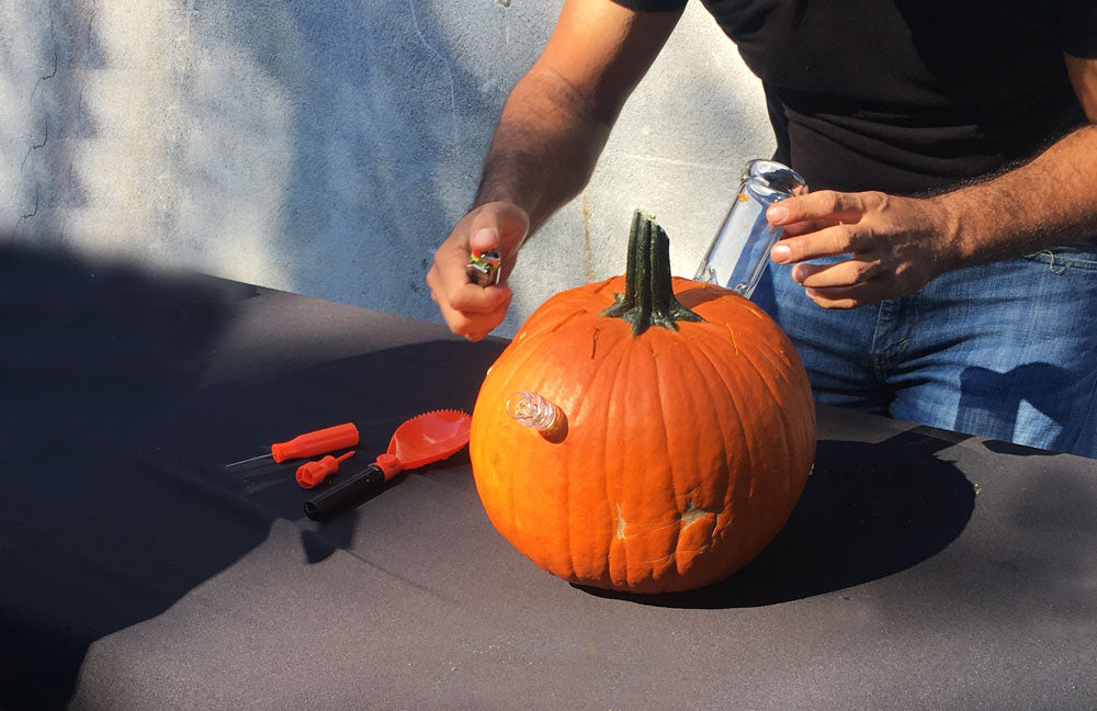 Pumpkin bong finished product