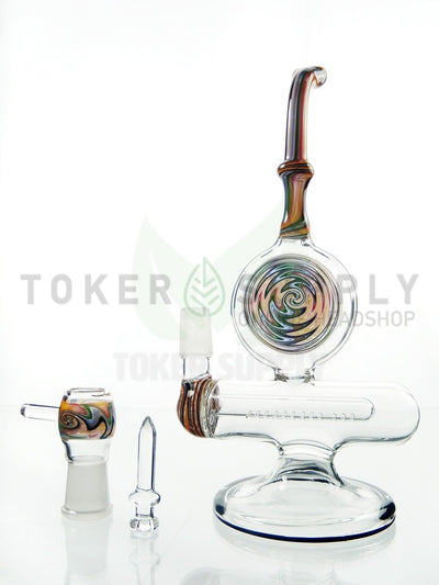 "10"" Color Swirl Inline Perc Rig"