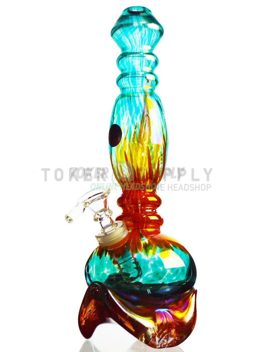 "11"" Colored Glass Rocket Water Pipe"