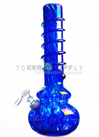 "16"" Spiral Colored Glass Water Pipe"