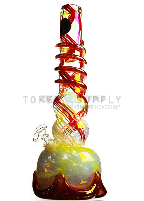 "16"" Spiral Tube Colored Glass Water Pipe"