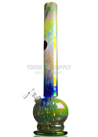 "18"" Straight Tube Vase Colored Glass Water Pipe"