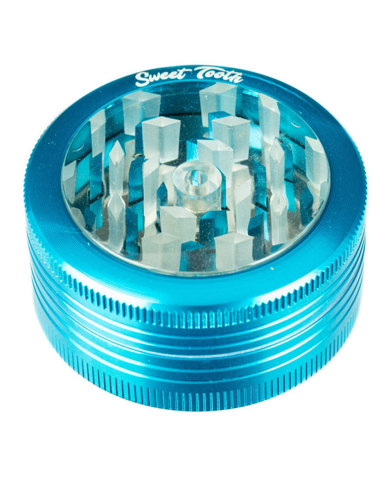 2-Piece Pop Up Diamond Teeth Grinder - Toker Supply