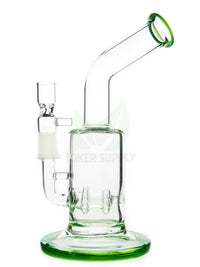 "8"" Bent Neck Circ Perc Water Pipe"