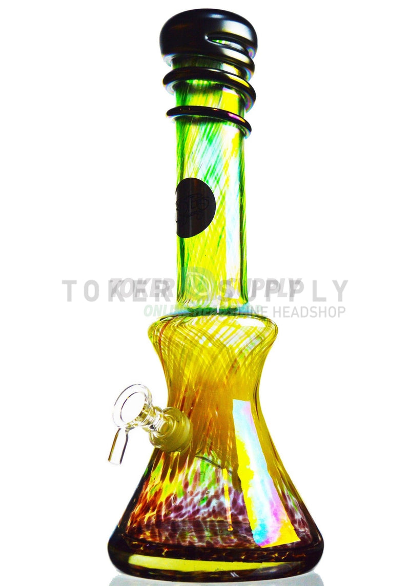 Beaker Bottom Colored Glass Water Pipe