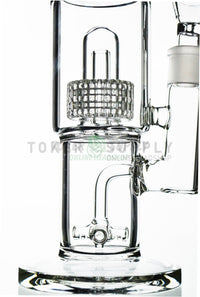 "Green Line ""Quad Stacks"" Fat Can Water Pipe"