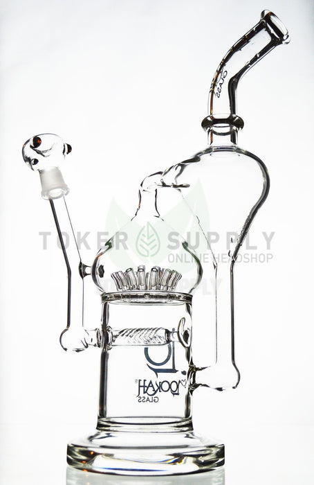 Lookah Glass - Inline Perc to Sprinkler Perc Recycler