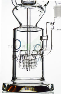 Lookah Glass - Rocket Ship Quad Perc to Honeycomb Perc Incycler