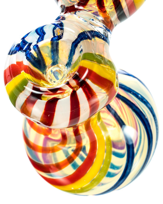 Rainbow Striped Bubbler - Toker Supply