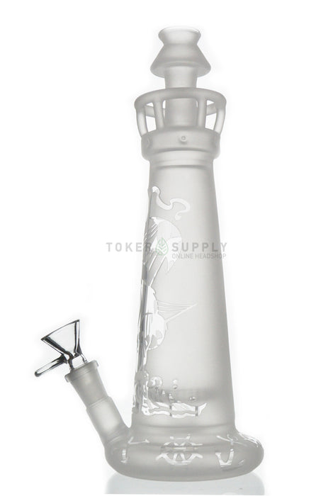 Sand Blasted Lighthouse Water Pipe - Toker Supply