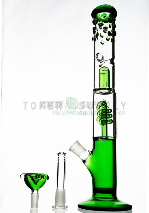 Spiral Perc Straight Tube Water Pipe