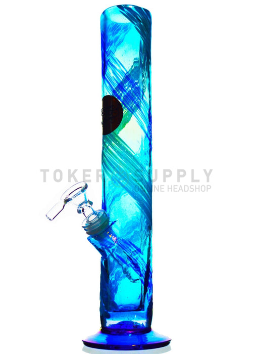 Straight Tube Colored Glass Water Pipe