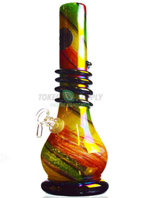 Striped Colored Glass Water Pipe