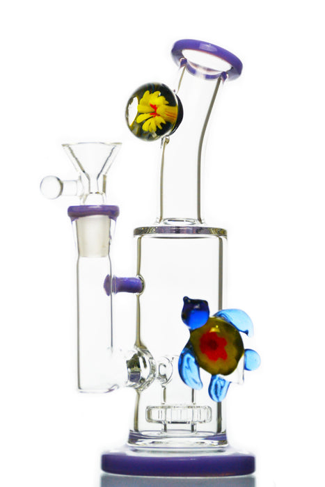 Swimming Turtle Showerhead Perc Bong - Toker Supply