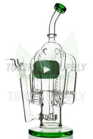 "The ""Chandelier"" Honeycomb Showerhead Recycler Water Pipe"