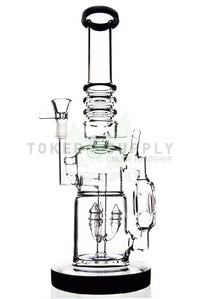 "The ""Side Donut"" Rocket Tree Perc Recycler Water Pipe"