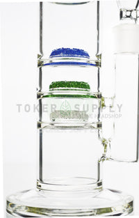 "The ""Triple Threat"" Triple Frit Perc Water Pipe"