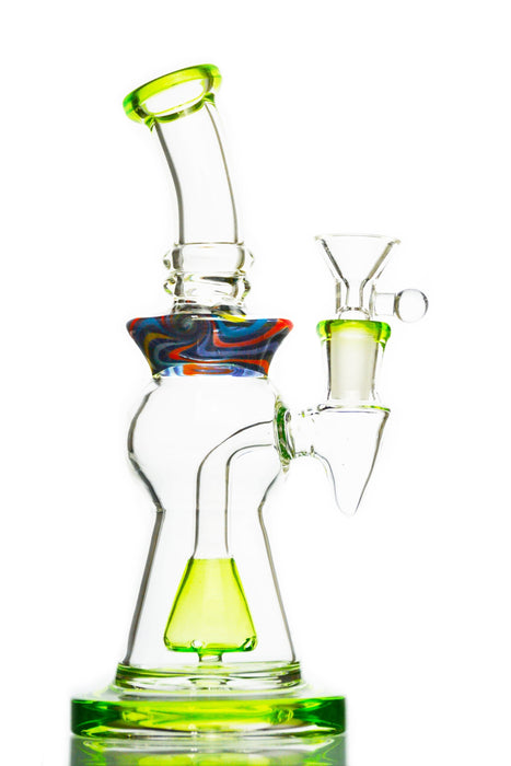 Tie Dye Green Pyramid Perc Water Pipe - Toker Supply