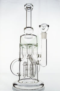 "Toker Supply ""Lift Off"" Triple Recycler Rocket Perc Water Pipe"