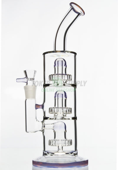 Triple Chamber Showerhead Perc Water Pipe