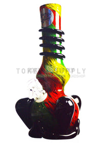 Wide Base Colored Glass Water Pipe