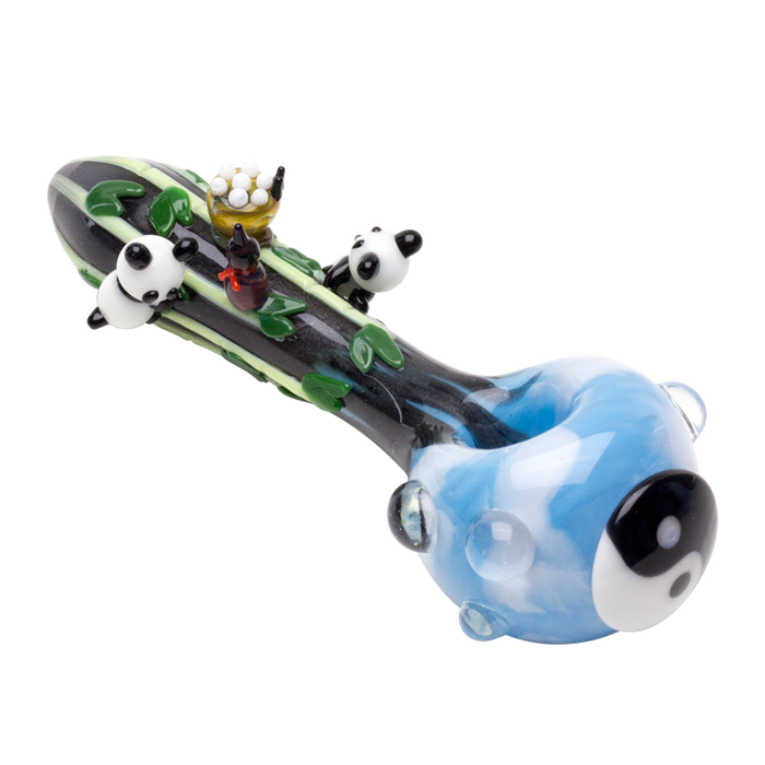Yin & Yang Panda Pipe - Toker Supply