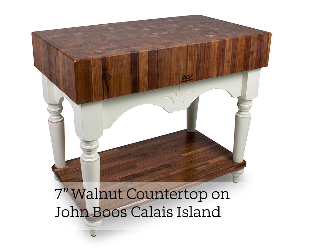 7 Inch Walnut End Grain Countertop on John Boos Calais