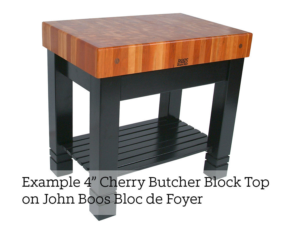 John Boos Cherry Block Top 4 Inch